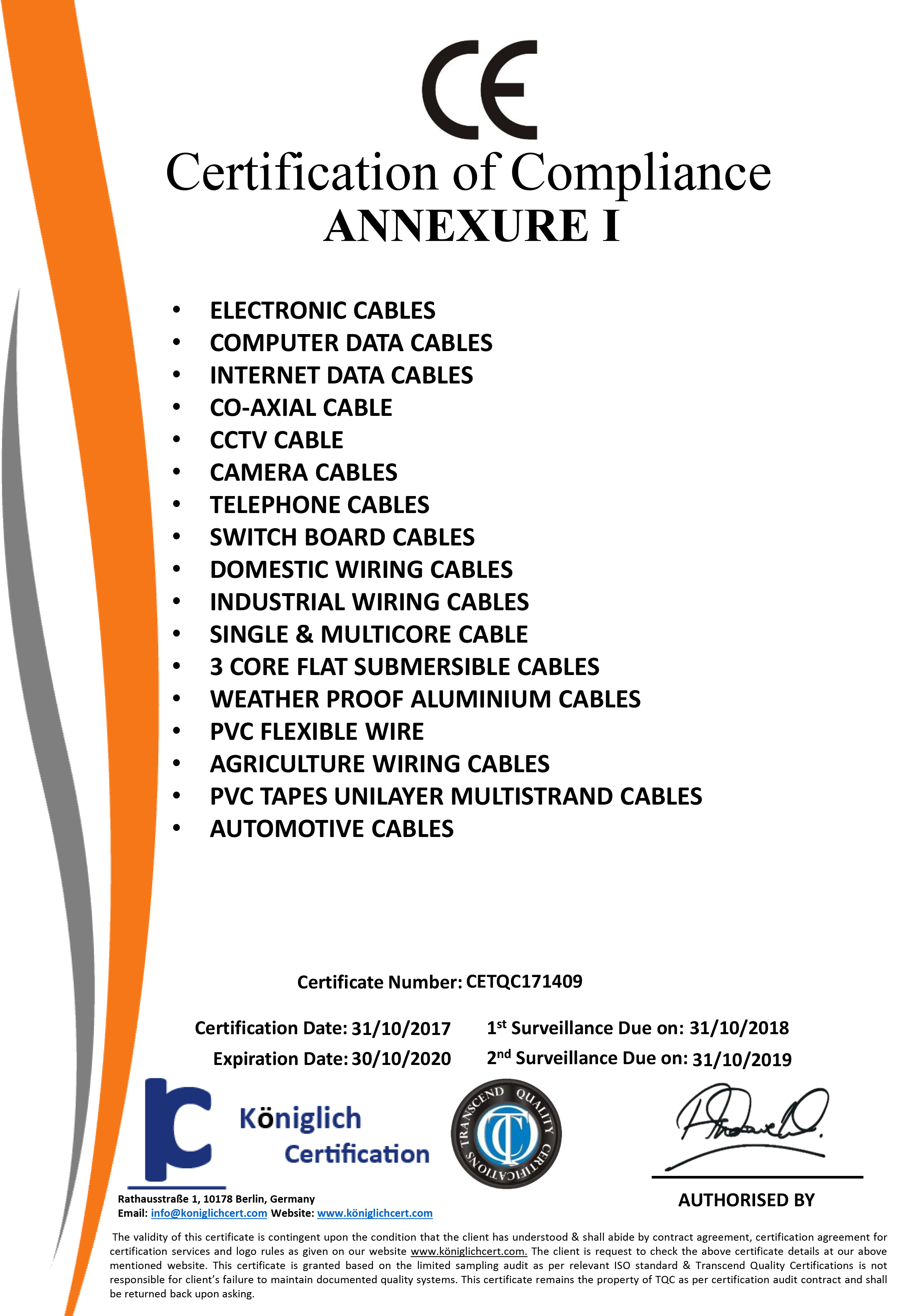 Duplex Cables Pvt Ltd Wires Manufacturers And Suppliers Domestic Telephone Wiring Certification